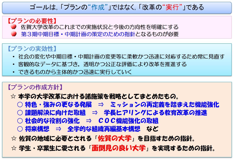 佐賀大学改革プランの策定