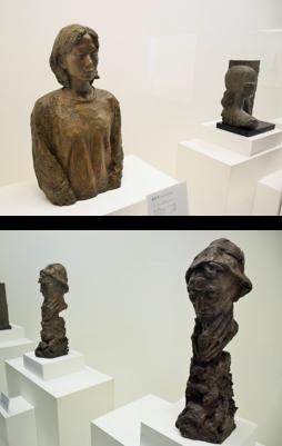 塑像と素材-佐大の彫刻